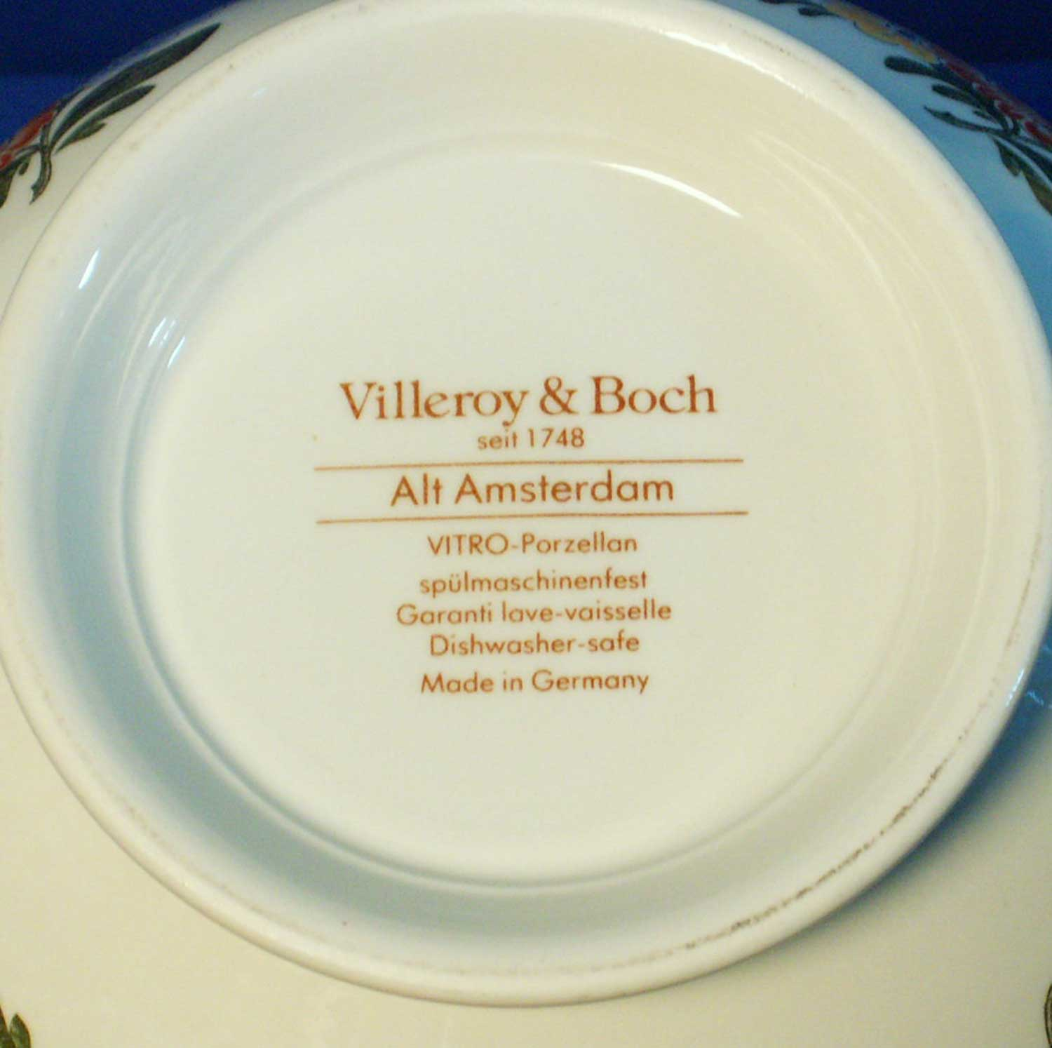 """Villeroy Boch Made In Germany: Villeroy And Boch Alt Amsterdam 7 """" Round Vegetable Bowl"""