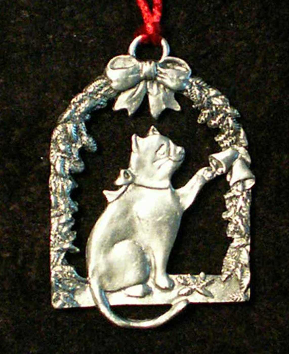 "Vintage 1986 Seagull Pewter Pewter /""Snow Flake/"" Christmas Ornament"