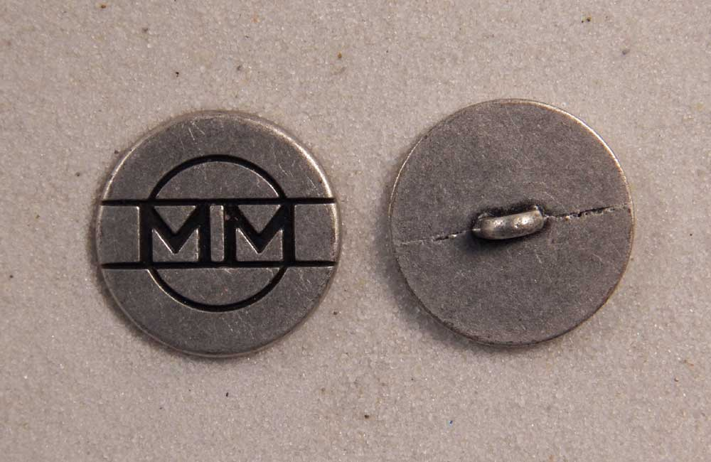 """Set of 6 JHB Pewter Round Metal Buttons MM for 2000 7//8"""" 23 mm lyk0015"""